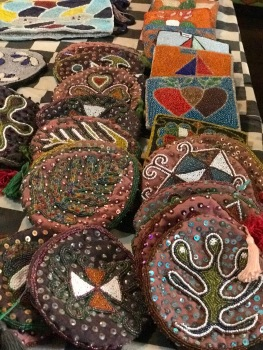 Hand-beaded wallets